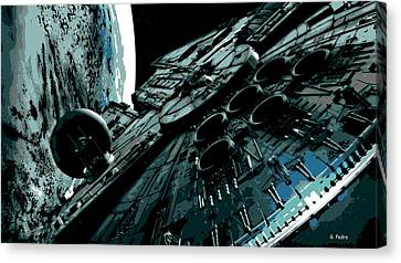 Movie Art Canvas Print - the Falcon by George Pedro