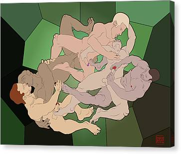 The Fall Of Argos Canvas Print