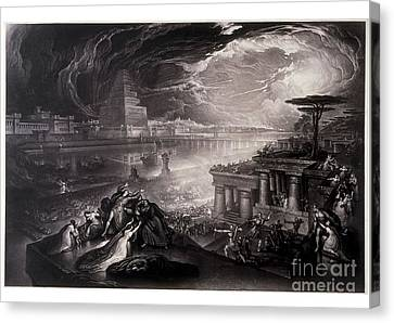 The Fall Of Babylon Canvas Print by MotionAge Designs