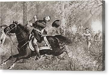 The Fall Of General James Birdseye Mcpherson Canvas Print by American School