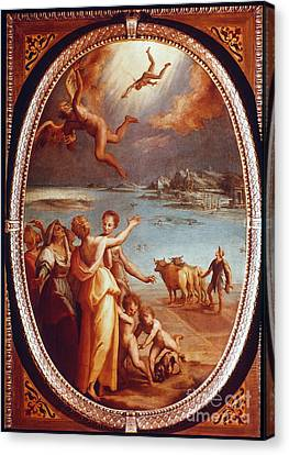 The Fall Of Icarus Canvas Print by Granger