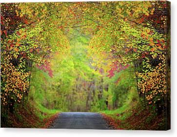 Stormy Weather Canvas Print - The Fall Road by Emmanuel Panagiotakis
