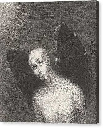 The Fallen Angel Canvas Print by Odilon Redon