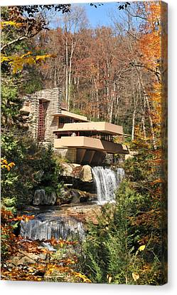 The Fallingwater Canvas Print by Edwin Verin