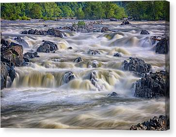 The Falls At Great Falls Park Canvas Print