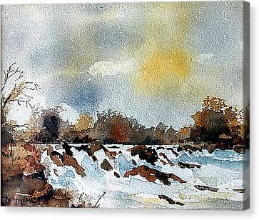 The Falls At Lismore, Waterford Canvas Print