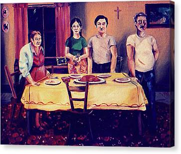 The Family Dinner Canvas Print by John Keaton