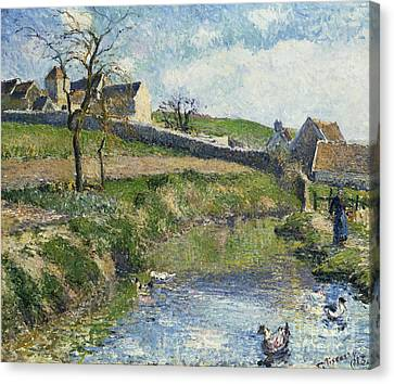 The Farm At Osny Canvas Print