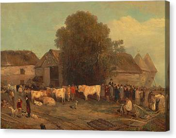 Cattle Dog Canvas Print - The Farm Sale by Mountain Dreams