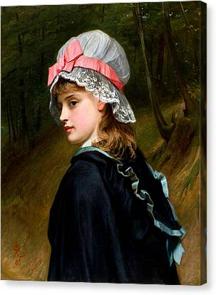 The Farmers Daughter Canvas Print by Charles Sillem Lidderdale