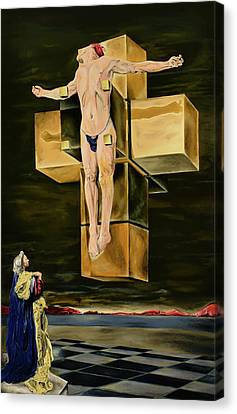 The Father Is Present -after Dali- Canvas Print by Ryan Demaree