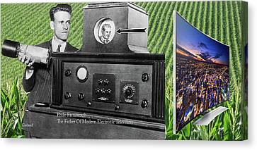 The Father Of Modern Television Canvas Print by Garland Johnson