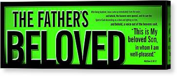 The Father's Beloved Canvas Print by Shevon Johnson