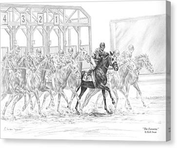 The Favorite - Horse Racing Art Print Canvas Print