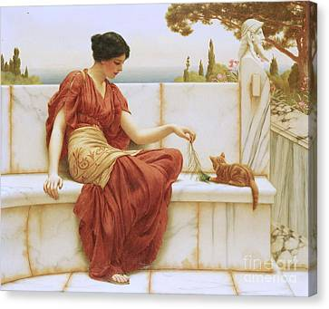Fun Canvas Print - The Favorite by John William Godward