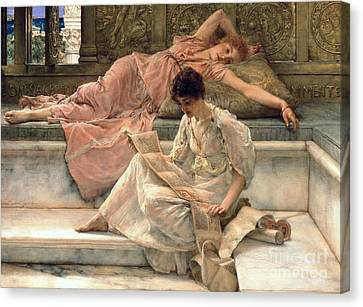 The Favourite Poet Canvas Print by Sir Lawrence Alma-Tadema
