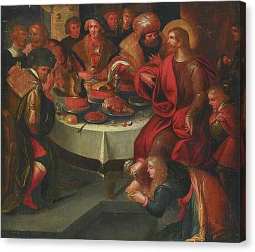 The Feast In The House Of Simon Canvas Print