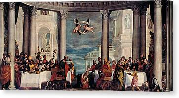 The Feast In The House Of Simon The Pharisee  Canvas Print by Paolo Veronese