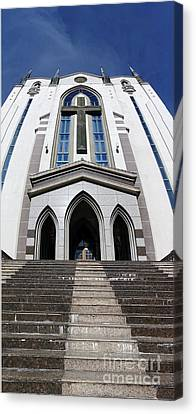 Canvas Print featuring the photograph The Fengshan Presbyterian Church In Taiwan by Yali Shi