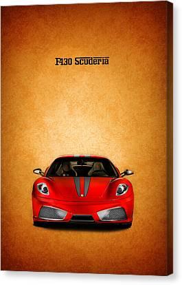 Red Ferrari Canvas Print - The Ferrari F430 by Mark Rogan