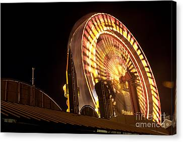 Canvas Print featuring the photograph The Ferris Wheel by David Bishop
