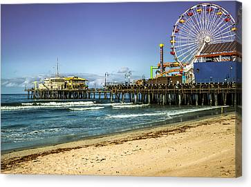 The Ferris Wheel - Santa Monica Pier Canvas Print