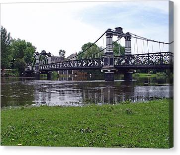 The Ferry Bridge Canvas Print by Rod Johnson