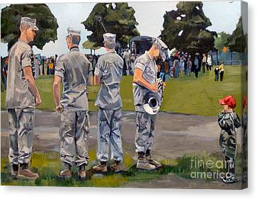 The Few The Proud Canvas Print by Deb Putnam