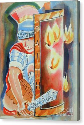 The Fiery Darts Of The Evil One 3 Canvas Print by Kip DeVore