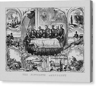 The Fifteenth Amendment  Canvas Print by War Is Hell Store