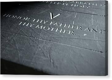 The Fifth Commandment Canvas Print