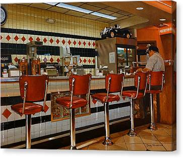 The Fifties Diner 2 Canvas Print by Doug Strickland