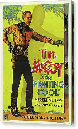 Tim Canvas Print - The Fighting Fool 1932 by Mountain Dreams