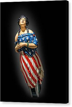 The Figure Head Of Columbia Canvas Print by Gary Warnimont