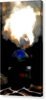The Final Junction Bound For A Place I Once Called Home . Abstract . Tall Version Canvas Print by Wingsdomain Art and Photography