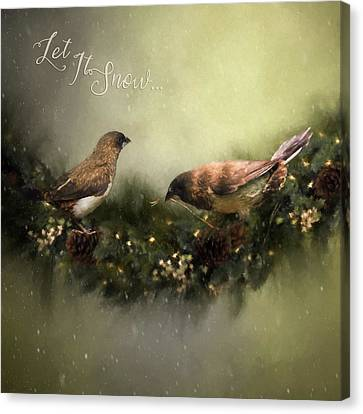 The Finches Who Stole Christmas - Seasonal Art Canvas Print by Jordan Blackstone