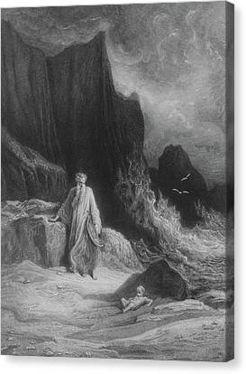 The Finding Of King Arthur Canvas Print by Gustave Dore