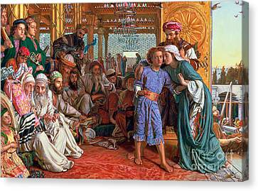 William And Mary Canvas Print - The Finding Of The Savior In The Temple by William Holman Hunt