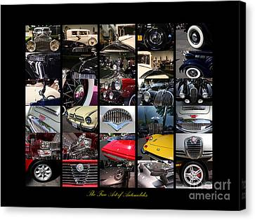 The Fine Art Of Automobiles Canvas Print by Wingsdomain Art and Photography