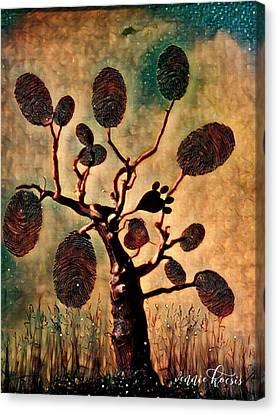 The Fingerprints Of Time Canvas Print