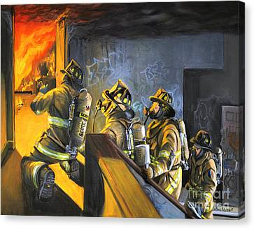 The Fire Floor Canvas Print by Paul Walsh