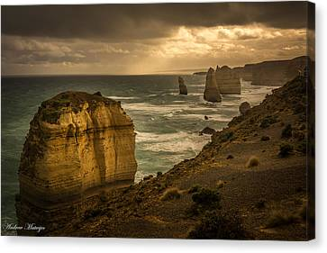 The Fire Sky Canvas Print by Andrew Matwijec