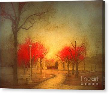 The Fire Trees Canvas Print by Tara Turner