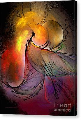 Contemplative Canvas Print - The Firedevil by Karin Kuhlmann