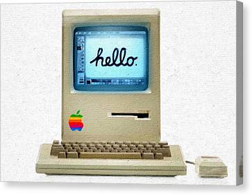 The First Apple Computer Painting Canvas Print by Tony Rubino