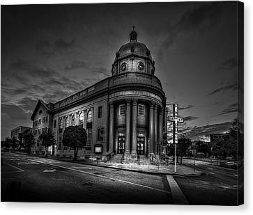 The First Baptist Church Of Tampa Bw Canvas Print by Marvin Spates