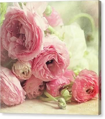 Canvas Print featuring the photograph The First Bouquet by Sylvia Cook