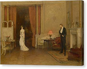 The First Cloud Canvas Print by William Quiller Orchardson