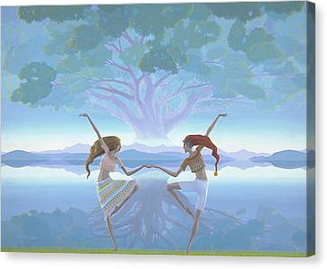 The First Dance Canvas Print by Jonathan Day