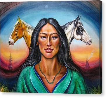 The First Horse Whisperer Canvas Print by Martin Katon